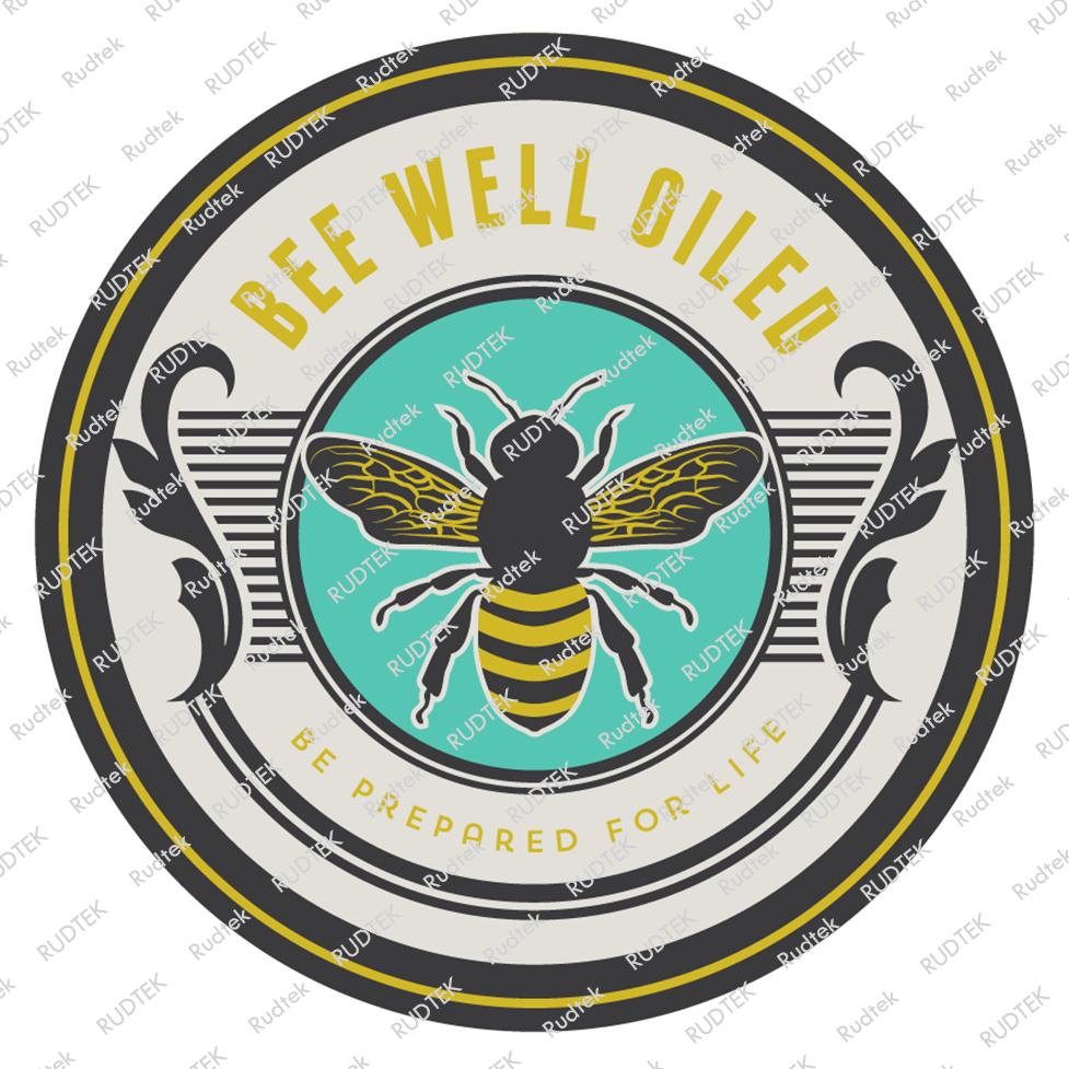 Rudtek Bee Well Oiled Logo