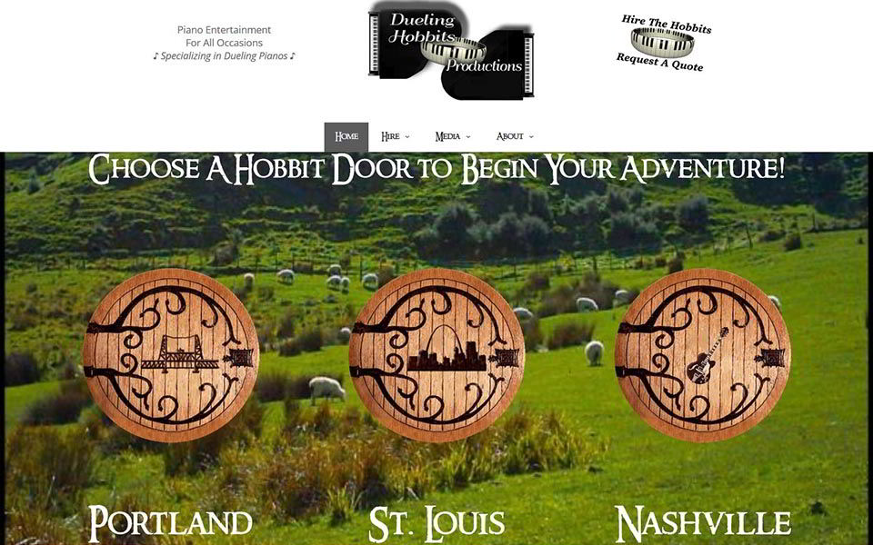 Rudtek Dueling Hobbits Productions Website